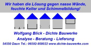 Wolfgang Blick Dichte Bauwerke